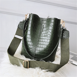 Image 4 - DIDA BEER Krokodil Crossbody Tas Voor Vrouwen Schoudertas Merk Designer Vrouwen Tassen Luxe PU Lederen Tas Emmer Tas Handtas