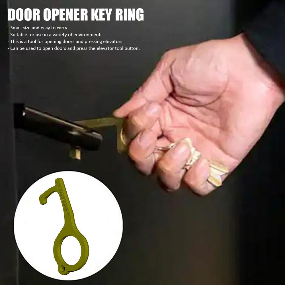 Portable EDC Non-Contact Door Opener , Stylus, Elevator Keychain Tool, Hygienic Keychain Antibacterial Tool