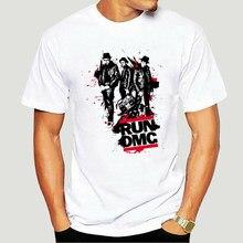 T-shirt RUN dmc-rap étoiles, groupe de musique Legend Hip-hop, vêtements de qualité imprimés, nouveau Style d'été, haut en coton, T-Shirt-5063A