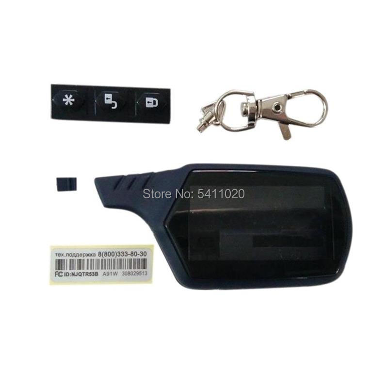10PCS/lot A91 Case Keychain Body Cover for Russian two Way Car Alarm System StarLine A91 A61 LCD Remote Control Key Fob