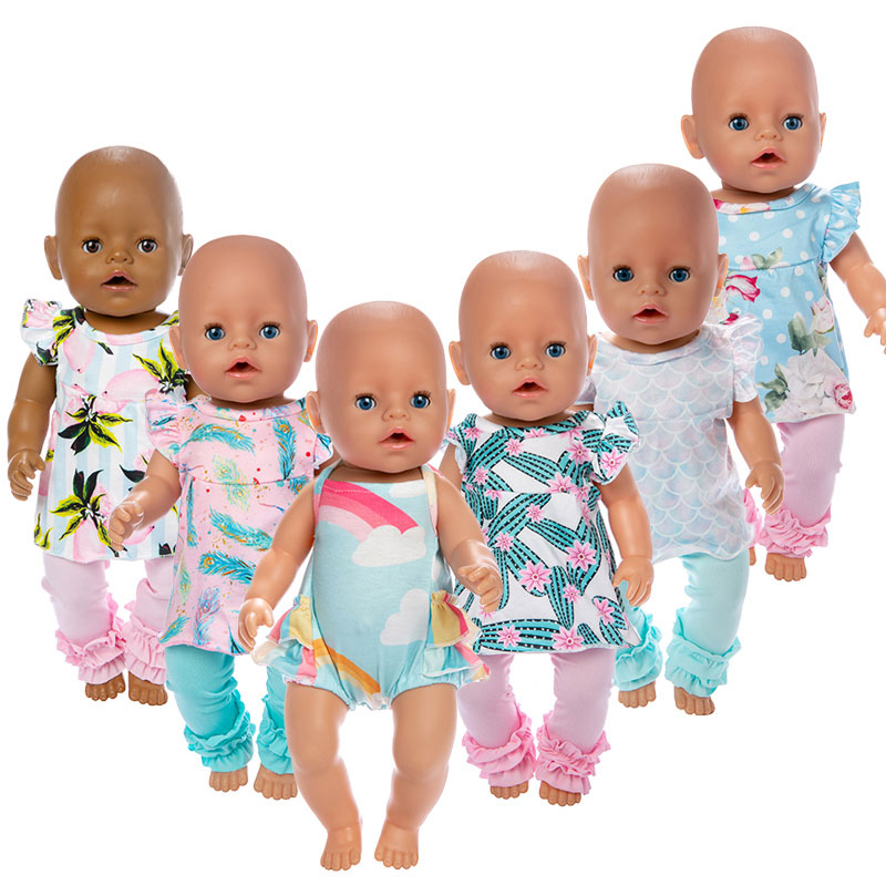 2019 New Lovely Dolls Suit Fit For 43cm Baby Doll 17inch Reborn Doll Accessories