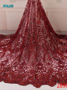 Lace-Fabric African French Latest for Nigerian Party-Dress YA2896B-1 Embroidery Bridal-Lace