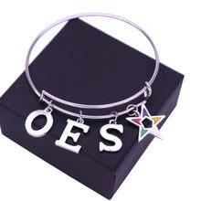 Dubbele Neus Griekse Letter Sorority School Club Orde Van Pasen Star Oes Armbanden Maçonnieke Sieraden