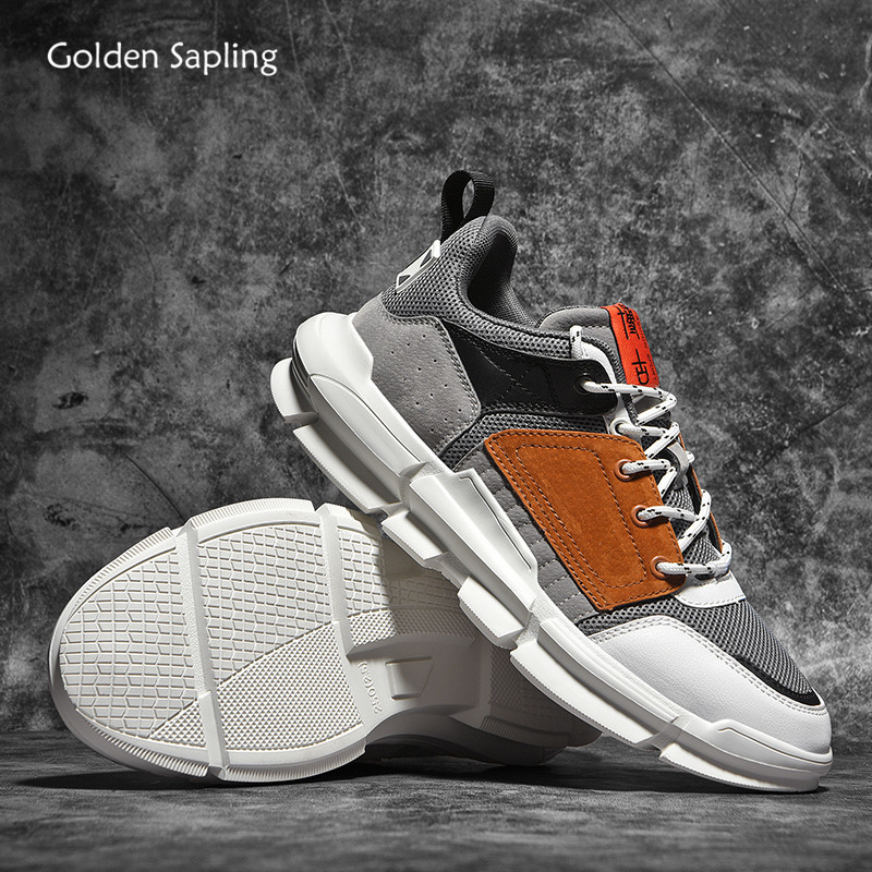 Golden Sapling Retro Men's Sneakers Breathable Air Mesh Summer Running Shoes Men Soft 2020 New Fitness GYM Trainers Sport Shoes
