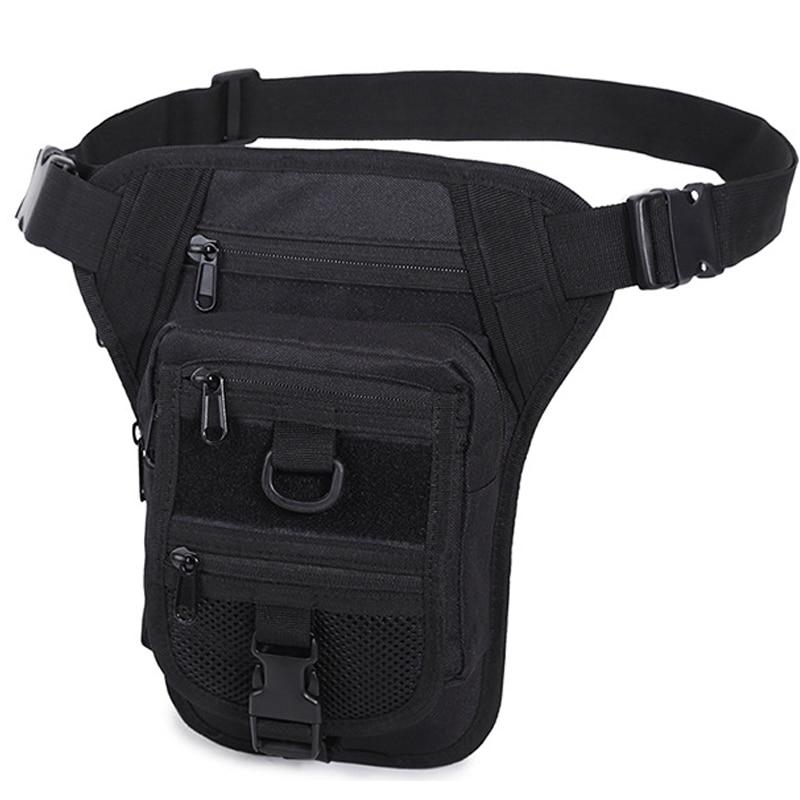 Men Waterproof Nylon Drop Leg Bag Fanny Waist Pack Thigh Belt Hip Bum Military Tactical Motorcycle Riding Multi-purpose Pouch