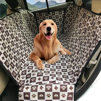 Dog Car Seat Cover  Waterproof Pet Dog Travel Mat Mesh Dog Carrier Car Hammock Cushion Protector With Zipper and Pocket 12