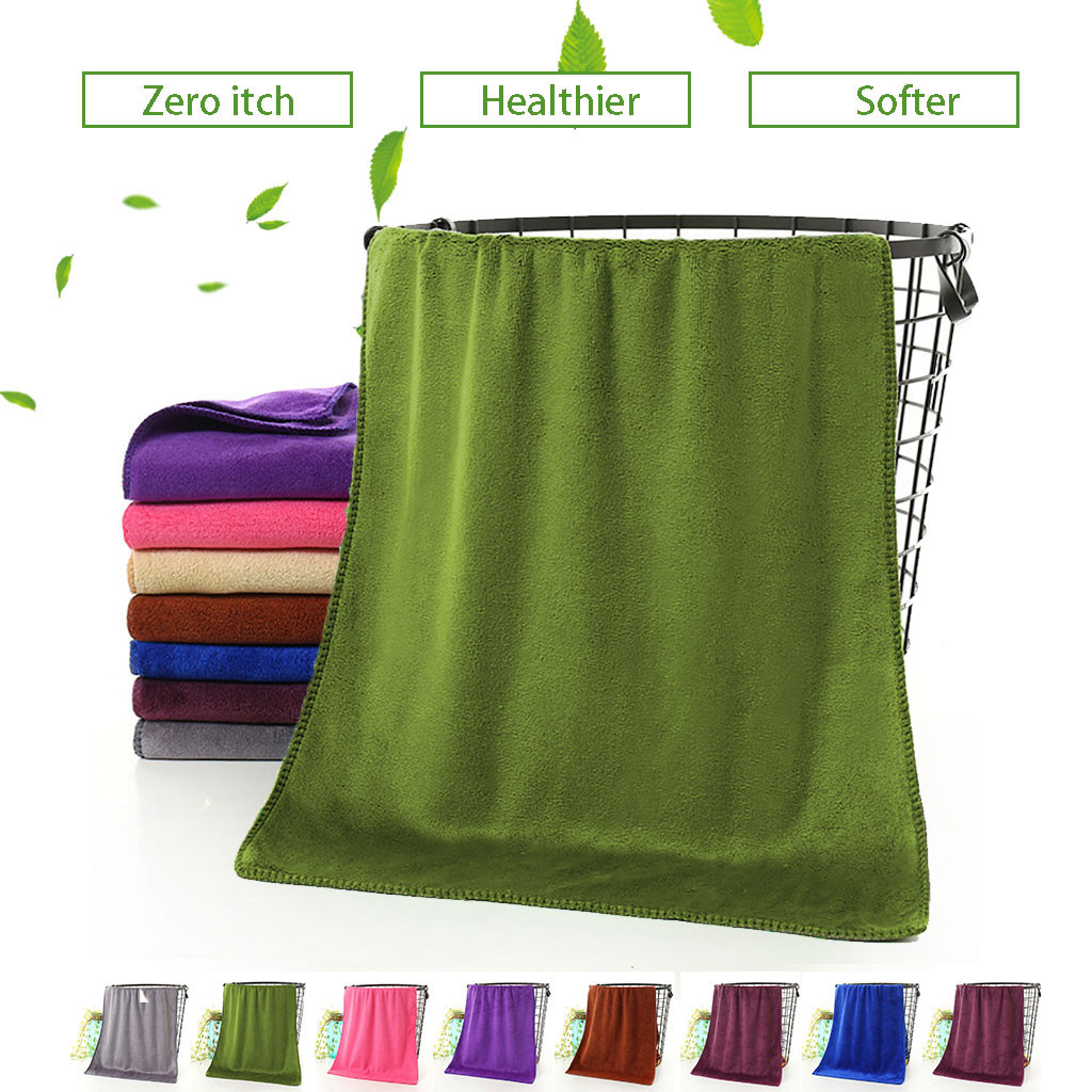 25#Bamboo Washcloth Microfiber Washcloths 1pc Bathing Towel Shower Absorbent Superfine Fiber Soft Comfortable Bath Towel