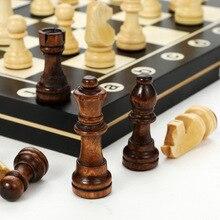 Деревянные шахматы деревянная шахматная доска складные шахматы Магнитная Настольная игра шахматы для всей семьи Игра настольная игра дети...