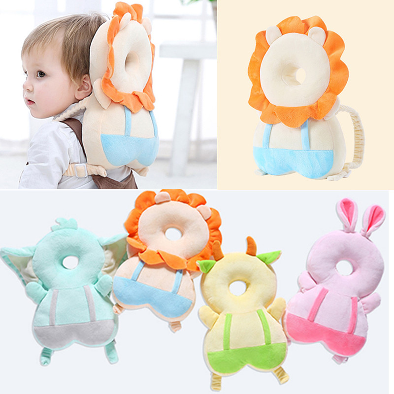 Toddler Headrest Pillow Cartoon Modeling Baby Head Protection Neck Baby Head Nusing Drop Resistance Backpack Type Helmet