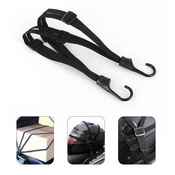 2 haki kask motocyklowy elastyczny pasek liny napinacz elastyczny z hakiem motocykl moc Telactric kask bagaż elastyczna lina tanie i dobre opinie Rubber band Black 65cm 1 PC