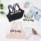 Sports Bra Yoga Women Push Up Bra For Women Fitness Top Sport Bra Letters Black White Running Yoga Gym Fitness Crop Top Women
