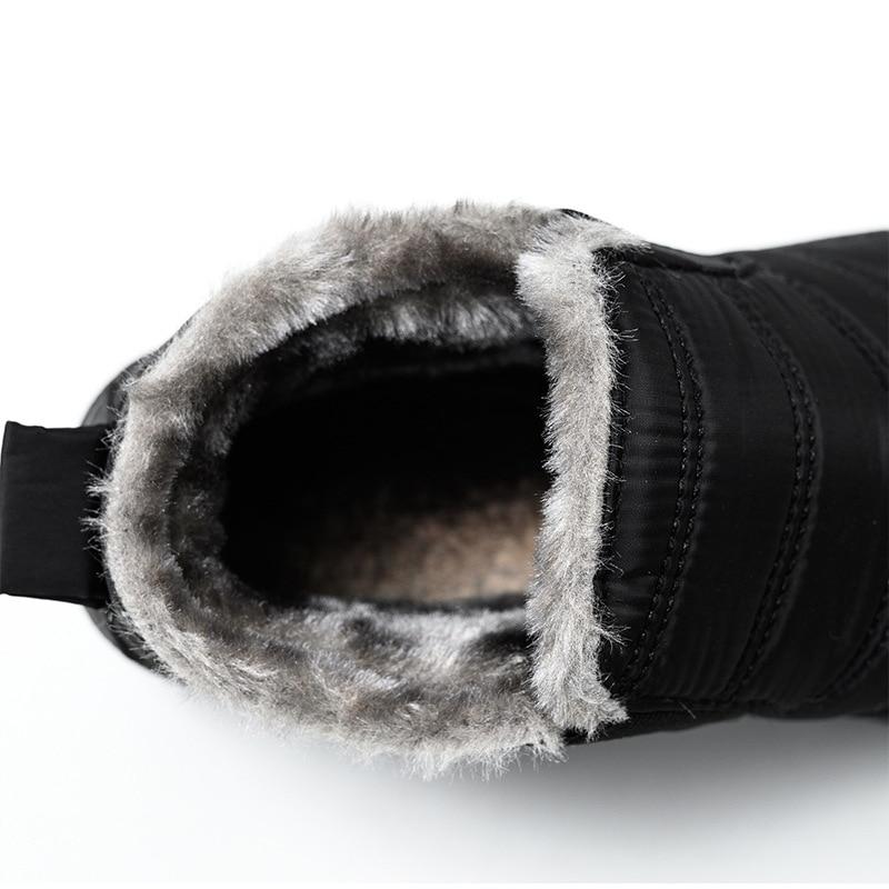 Snow Boots Women Shoes Warm Plush Fur Ankle Boots Winter Female Slip On Flat Casual Shoes Waterproof Ultralight Footwear 29