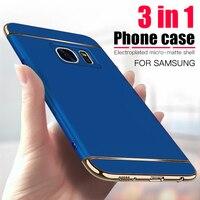 Custodia per telefono placcata di lusso per Samsung Galaxy S6 S7 Edge S8 S9 S10 Plus S20 S21 custodia opaca Urtal custodia protettiva per PC Capa posteriore