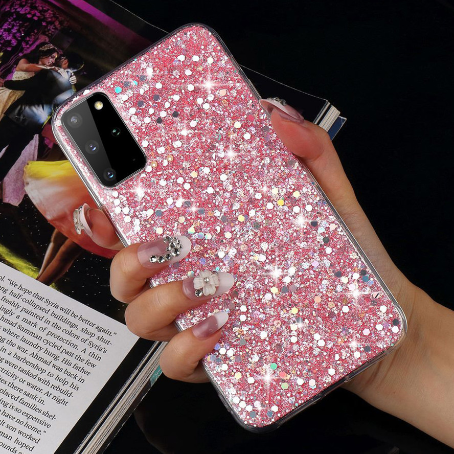 Sequins Glitter Case for Samsung Galaxy S20 Ultra A51 A71 S10e S10 S9 S8 Plus S7 Edge S6 A5 2017 Soft TPU Silicon Slim Cover