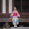 Frauen Yukata Traditionelle Japan Kimono Robe Fotografie Kleid Cosplay Kostüm blume Drucke Vintage Kleidung
