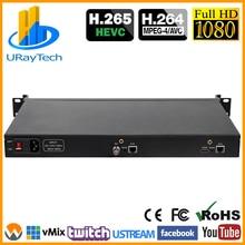 Encoder Video IP 1U HEVC HDMI SDI codificatore Streaming IPTV H.265 H.264 Encoder Live HDMI SDI a RTSP RTMP HTTP UDP HLS ONVIF