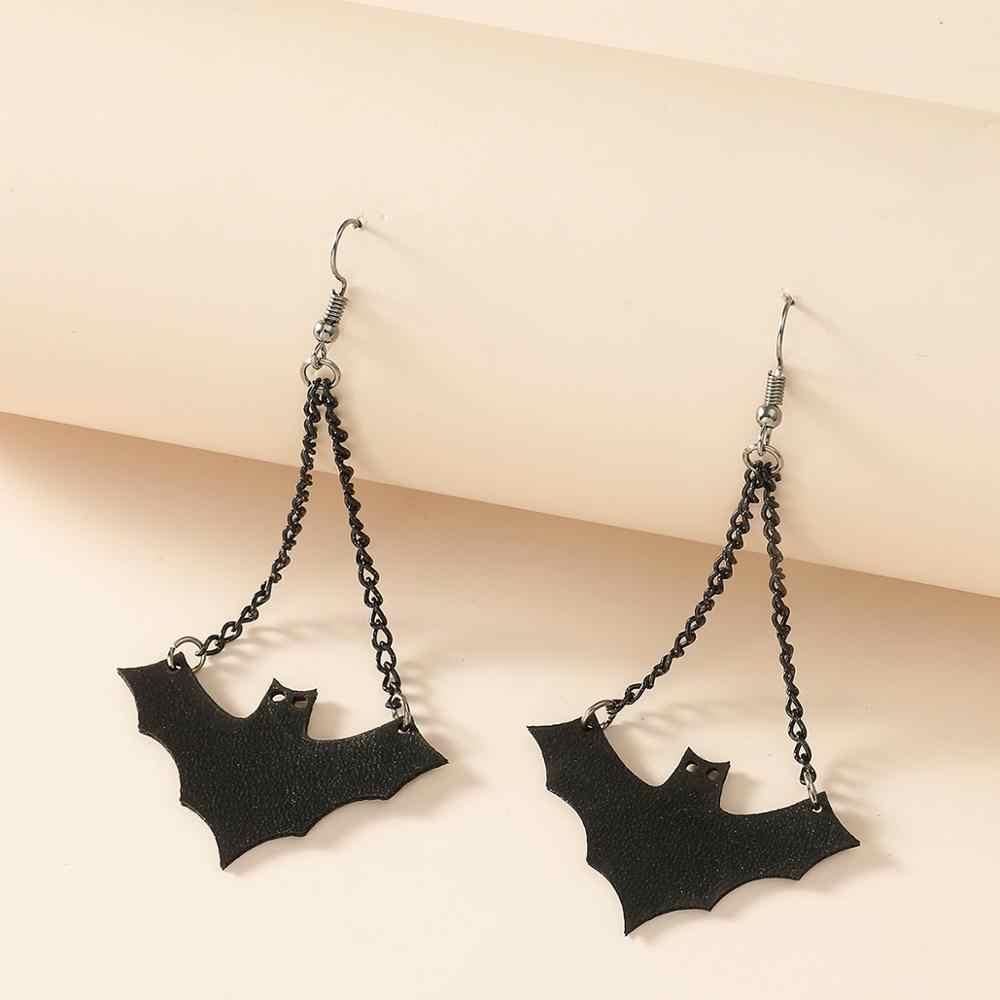 Funny Bat Halloween Women Earrings Jewelry Fashion Dangle Drop Pattern Decor Set