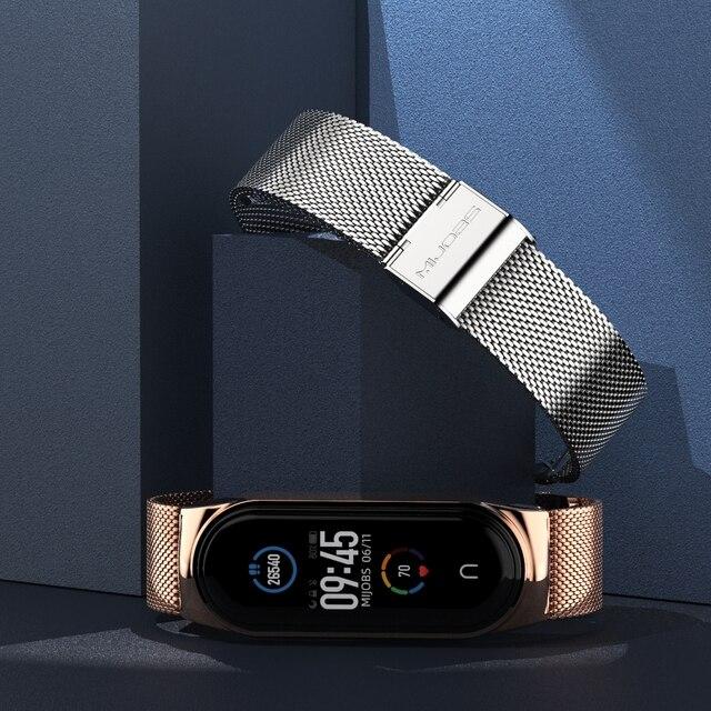 Strap for Mi Band 5 6 Metal Milanese Bracelet On Mi Band 4 Wristband Stainless Steel Mi Band 3 Strap For Xiaomi Miband 5 4 Xaomi 2