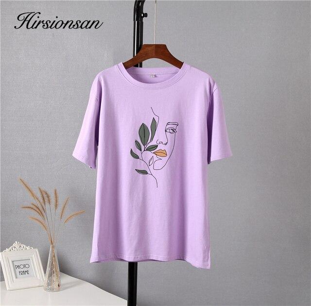 Свободная женская футболка хлопковая высокого качества с изображением 3