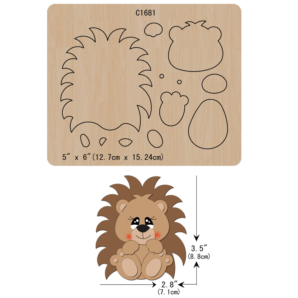 New Hedgehog  Wooden Die Scrapbooking C1681 Cutting Dies