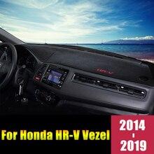 Dành Cho Xe Honda HRV HR V Vezel 2014 2015 2016 2017 2018 2019 LHD/Rhd Bảng Điều Khiển Trên Ô Tô Bao Thảm Lót Chống Tia UV ốp Lưng Thảm Phụ Kiện
