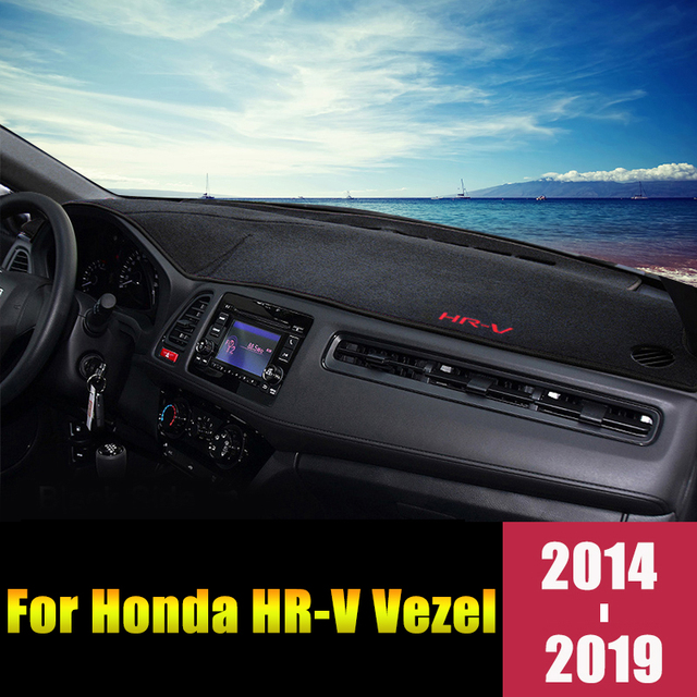 Коврики для приборной панели автомобиля для Honda HRV, коврики, чехол с защитой от УФ лучей, аксессуары для ковров, 2014, 2015, 2016, 2017, 2018, 2019, LHD/RHD
