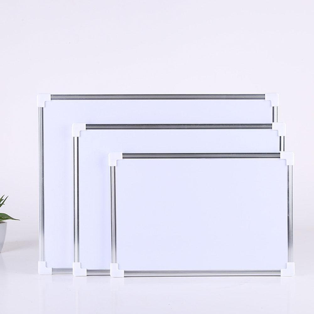 Double Side Magnetic Whiteboard Office School Dry Erase Writing Magnets Buttons Board Pen Z2G4