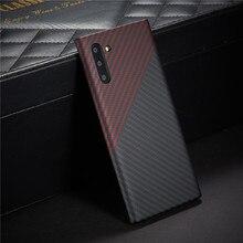 Carbon fiber schutzhülle für samsung galaxy note 10 plus zurück abdeckung note10 20 ultra stoßstange aramid luxus marke disign