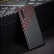 carbon fiber protective case for samsung galaxy note 10 plus back cover note10 20 ultra bumper aramid luxury brand disign