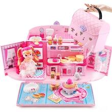 Pretend Play Kids Make Up Toys Luxury Simulation Dollhouse Handbag Toys for Girls Princess