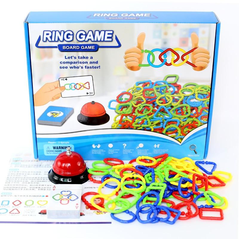 Кольцевая игра цветные формы познания детская настольная игра мозговая реакция интерактивные вечерние Настольные Игры развивающие игрушк