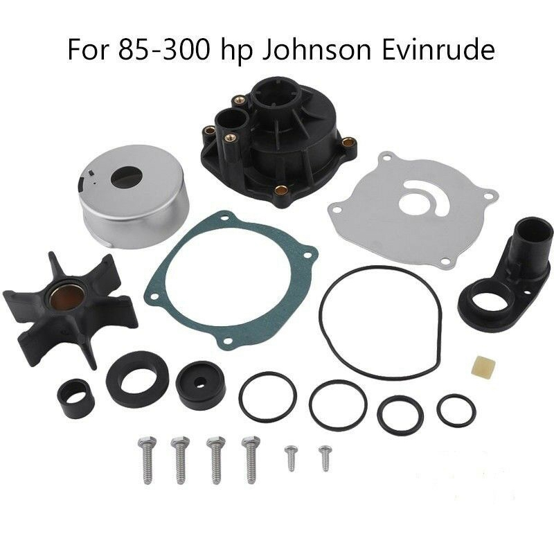 EVINRUDE JOHNSON 85 88 90 110 112 115 HP V4 WATER PUMP REPAIR KIT WITH HOUSING