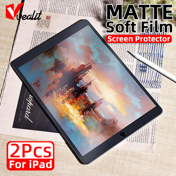 2Pcs Matte Pet Soft Protective Film For iPad Pro 11 10.5 10.2 Air 2020 2019 Mini 5 4 3 2 1 Screen Protector Not Glass - discount item  10% OFF Tablet Accessories