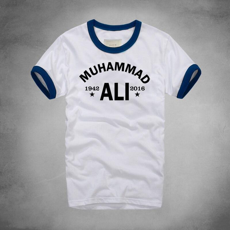 Городская модная футболка с Мухаммедом Али, повседневная одежда для ММА для мужчин, лучшая футболка для фитнеса с коротким рукавом и принто...