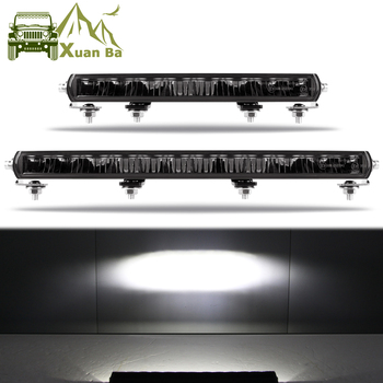 цена на Super Bright Slim 9D Lens 14 20 Inch Led Bar Light For Tractor Truck 4x4 Offroad SUV ATV Niva Auto Led Barra Work Lights 12V 24V