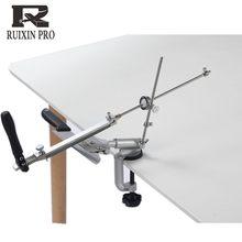 Ruixin pro sistema apontador de faca liga alumínio 360 graus flip ângulo constante ferramentas moagem moedor machinewith 4 peças pedras