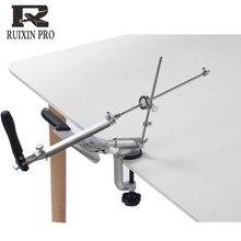 Ruixin pro Sistema de afilador de cuchillos de aleación de aluminio, herramientas de molienda de ángulo constante con tapa de 360 grados, máquina amoladora con 4 Uds.