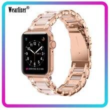 Correa de aleación de Zinc para Apple Watch Series 5, 4, 3, 2, 1, 40mm, 44mm, 38mm, 42mm, para hombre y mujer, repuesto de correa de metal para Iwatch