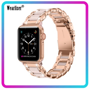 Image 1 - For Apple Watch Strap Series 5 4 3 2 1 40mm 44mm 38mm 42mm Women Men Zinc Alloy Band Iwatch metal Replacement Strap