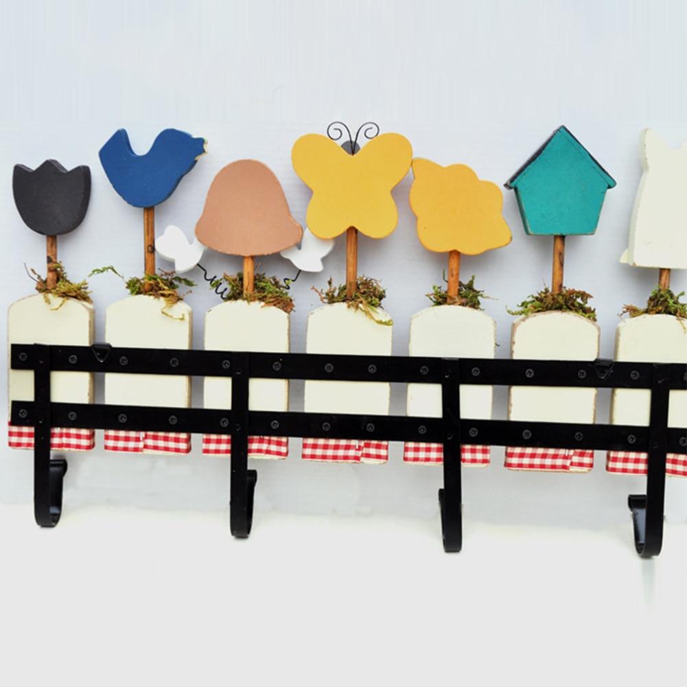 Приветственные буквы Висячие деревянные легко установить крыльцо милый Органайзер ремесло настенный крючок универсальный бабочка пчела шаблон Экономия пространства