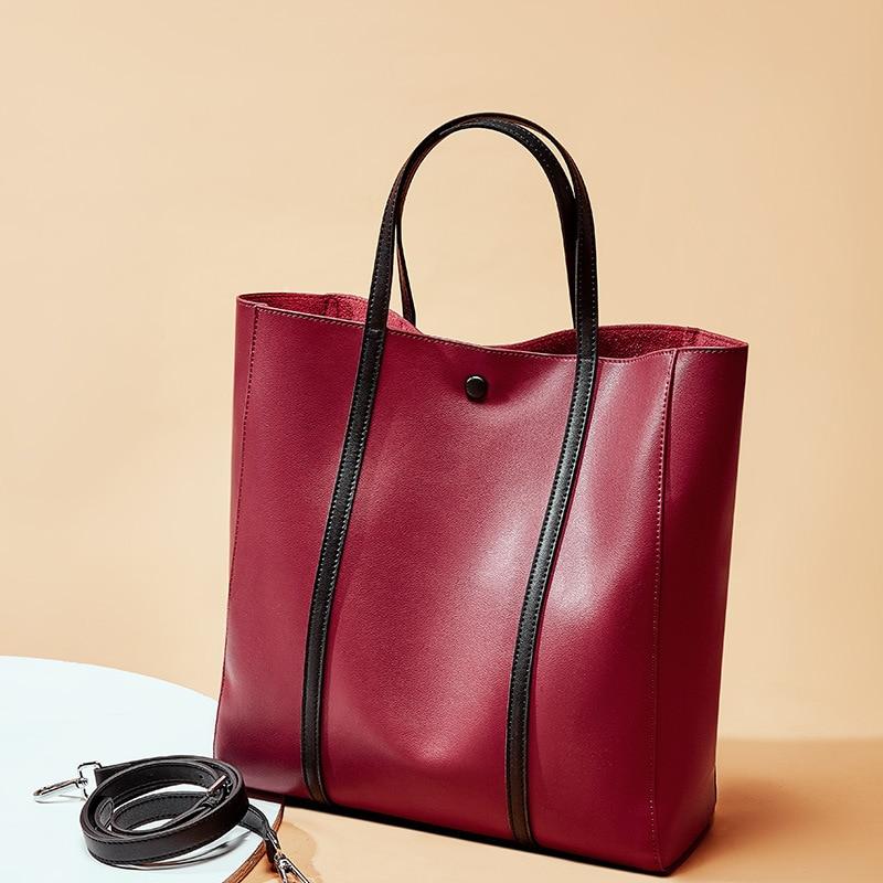 Large capacity cross body bags in bucket quality leather shoulder bag for women girls elegant handbags pretty messenger bags hot