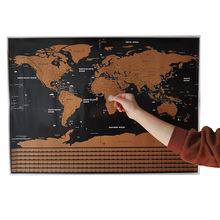 Silinebilir harita 82*59cm ev dekorasyon duvar çıkartmaları oyuncak çıkartmalar dünya haritası 252 ulusal bayraklar su geçirmez kağıt duvar sticker haritası