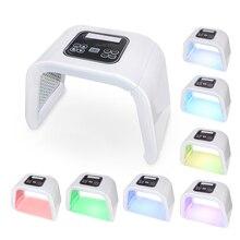 חדש מקצועי פוטון PDT Led אור פנים מסכת מכונה 7 צבעים אקנה טיפול פנים הלבנת התחדשות עור טיפול באור