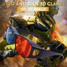 3d очки с синими и красными линзами для фильмов эффектом анаглифа