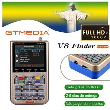 GTmedia V8 Finder Meter Digital Satellite Finder DVB-S2/S2X ACM High Definition With 3000mAh Battery Sat finder for freesat v7