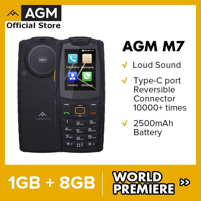 Мировая премьера с клапанным регулированием M7 4G громкий звук прочный телефон 1 ГБ 8 ГБ 2500 мАч мобильный телефон Водонепроницаемый Тип-C сенсо...