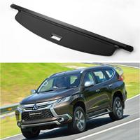 Wholesale Rear Trunk Security Screen Privacy Shield Cargo Cover For Mitsubishi Pajero Sport 2016 2017 2018 2019 (Black Beige)