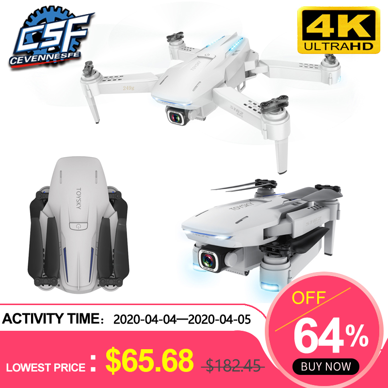 2020 NEW S162 Drone Gps 4K HD 1080P 5G Wifi Fpv Quadcopter Flight 20 Minutes Rc Distance 500m Dron Smart Return Drones Pro Toys