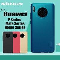 Nillkin para huawei companheiro 30 20 p30 pro caso fosco escudo duro pc telefone capa completa para huawei honra v30 20 pro p30 p20 lite
