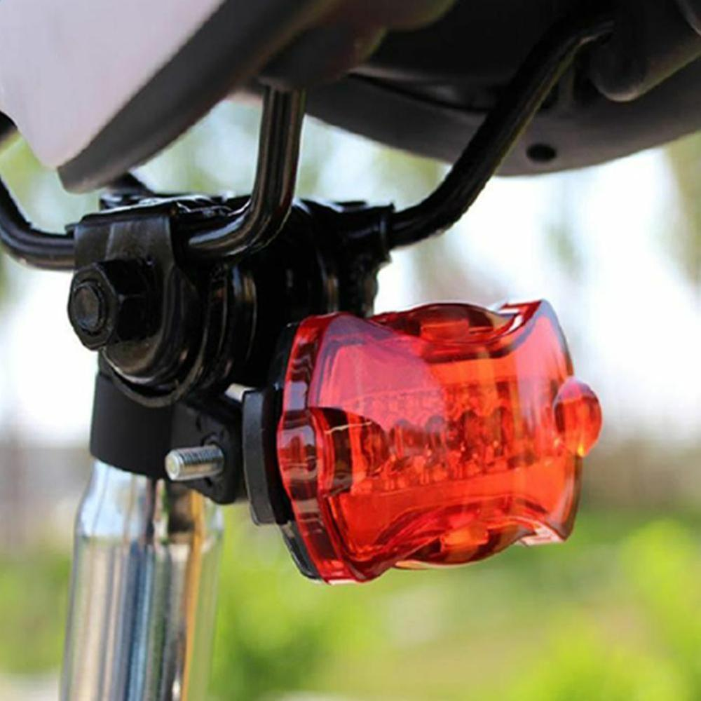 Bicycle Cycling Lights Waterproof 5 LED Rear Light Safety Warning Accessorie